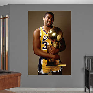 Magic Johnson Trophy Mural Fathead Wall Decal